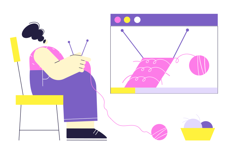 style Online knitting lesson Vector images in PNG and SVG | Icons8 Illustrations