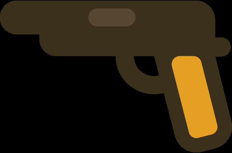 gun pistol Clipart illustration in PNG, SVG