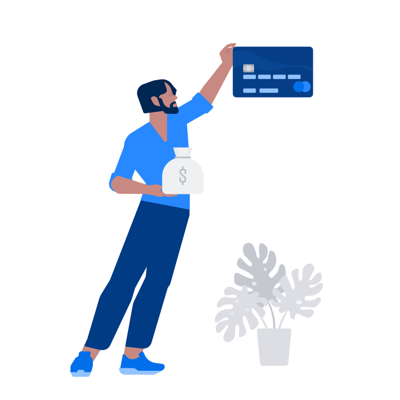 Credit card and savings Clipart illustration in PNG, SVG