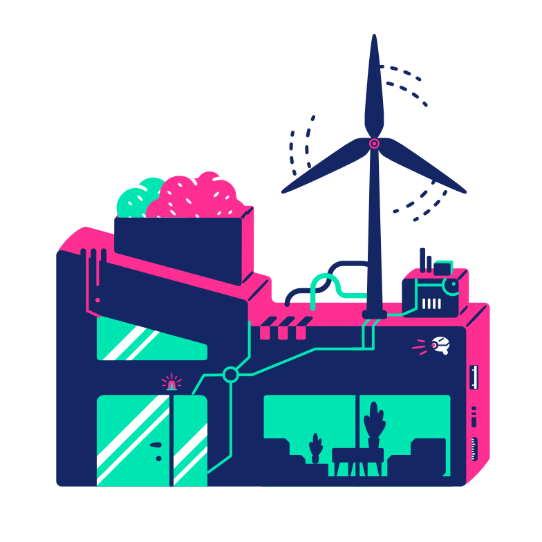 Home wind turbine Clipart illustration in PNG, SVG