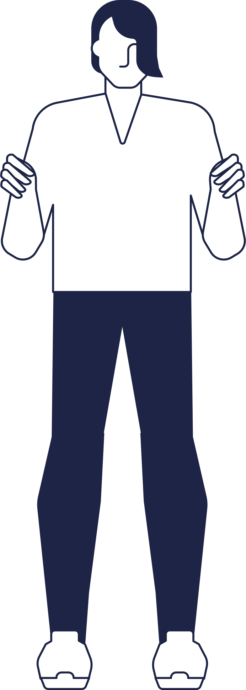 welcome!  man holding something line Clipart illustration in PNG, SVG