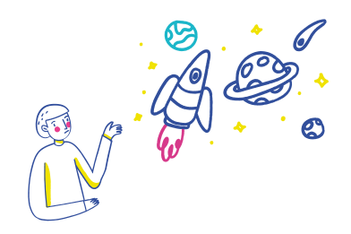 style Thinking about the universe images in PNG and SVG | Icons8 Illustrations