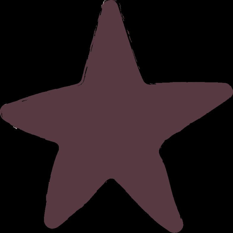 star-dark-brown Clipart illustration in PNG, SVG