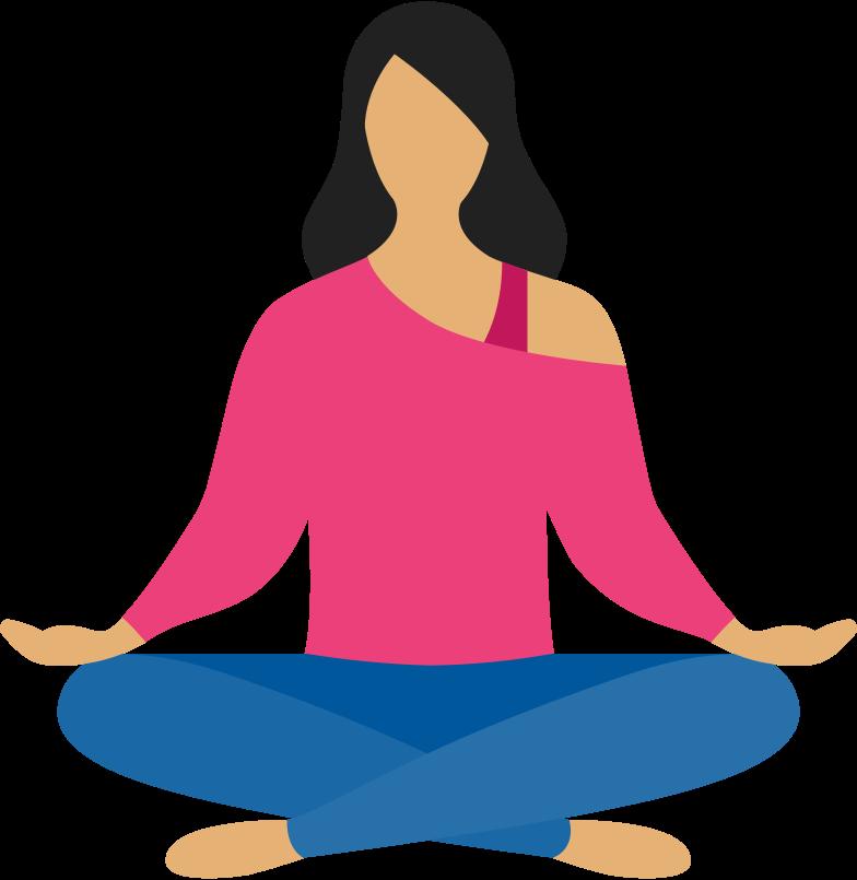woman meditation Clipart illustration in PNG, SVG