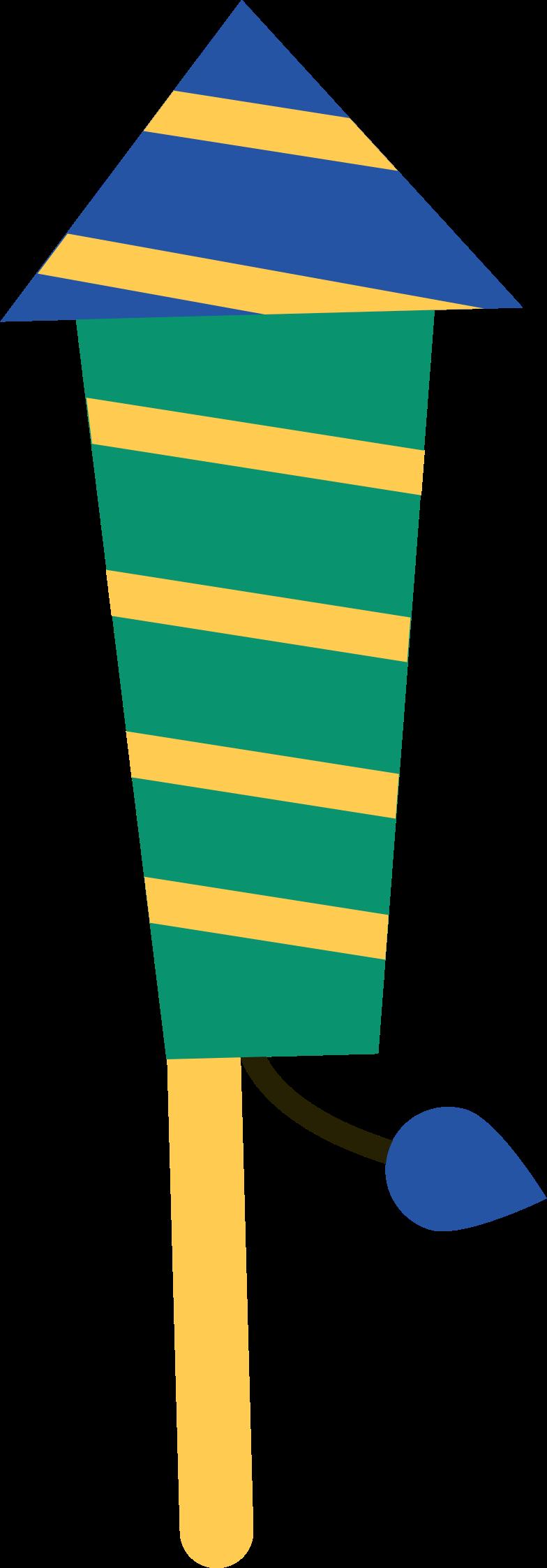 rocket salute Clipart illustration in PNG, SVG