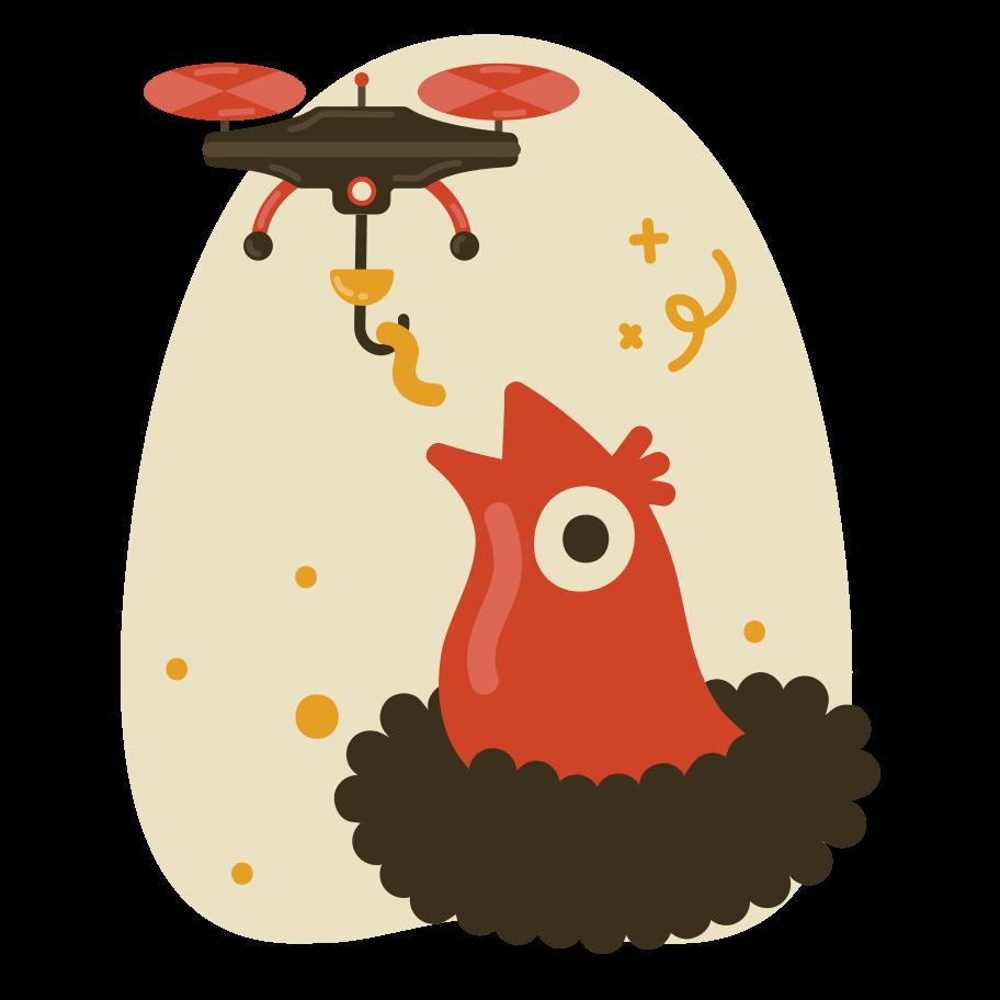 Automação de alimentação de pássaros Clipart illustration in PNG, SVG