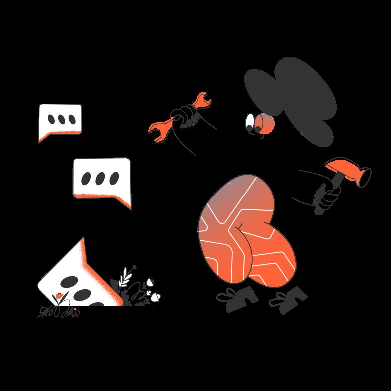 Online support service Clipart illustration in PNG, SVG