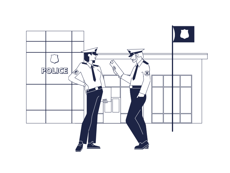 style Police Station Vector images in PNG and SVG | Icons8 Illustrations