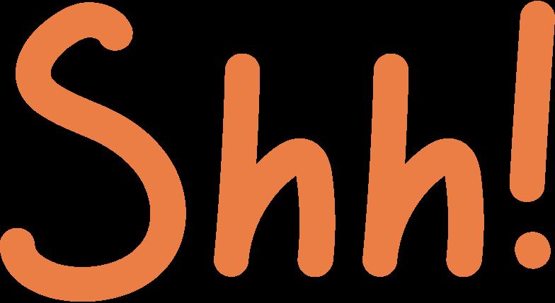 shh Clipart illustration in PNG, SVG