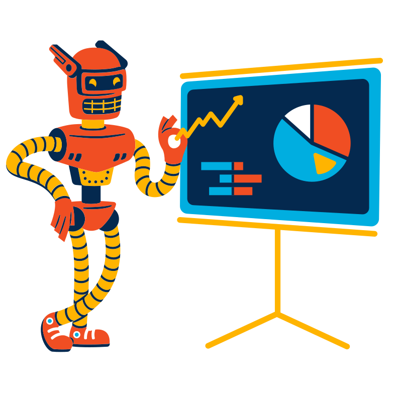 style Financial analyst robot Vector images in PNG and SVG | Icons8 Illustrations