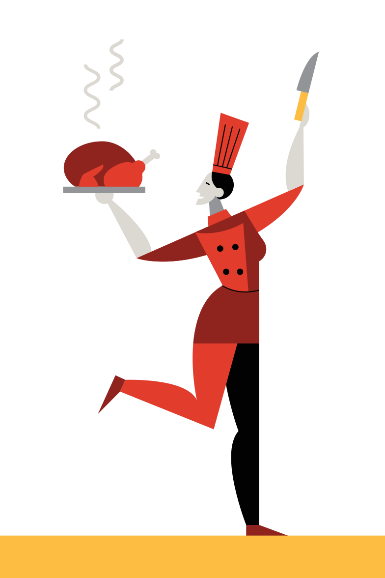 Thanksgiving turkey Clipart illustration in PNG, SVG