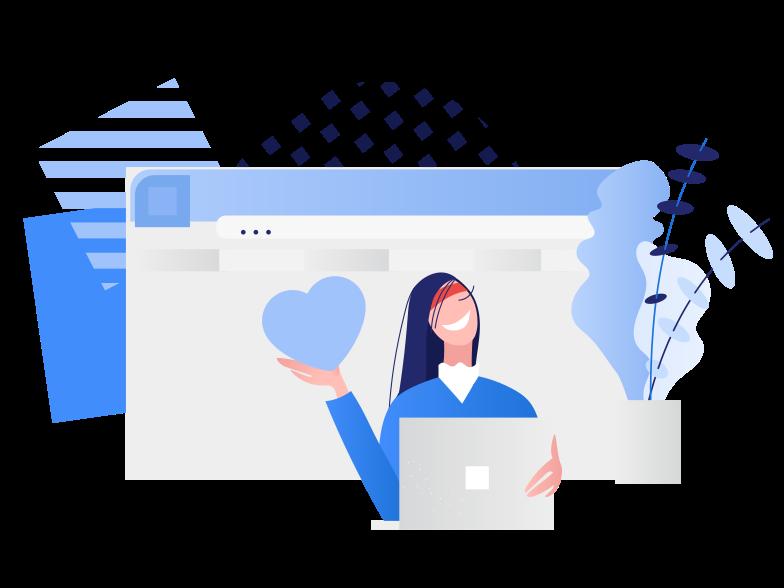 Sending love message  Clipart illustration in PNG, SVG