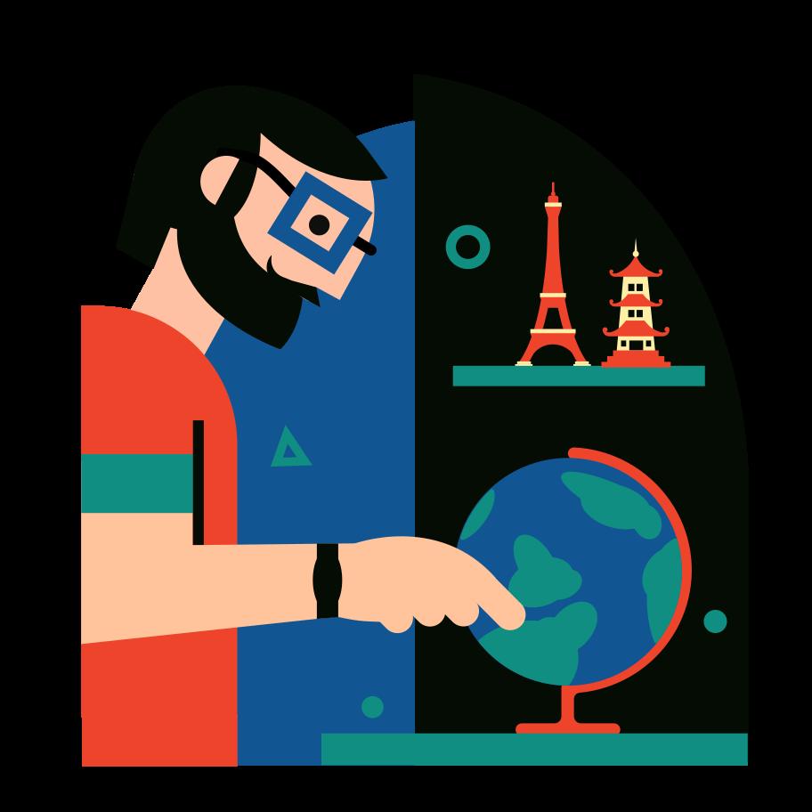 The Traveler Clipart illustration in PNG, SVG