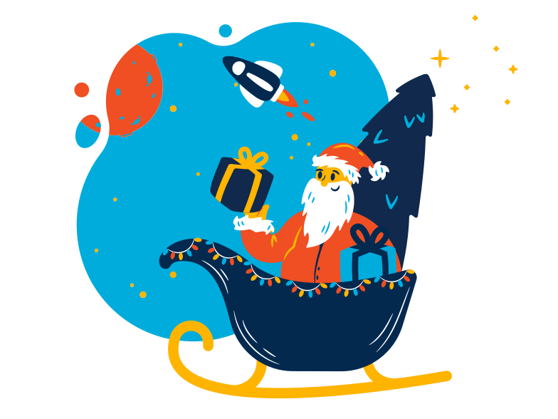 style Santa is coming Vector images in PNG and SVG | Icons8 Illustrations