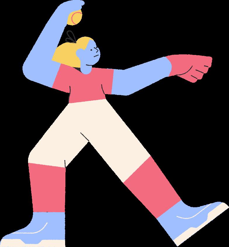 softballer Clipart illustration in PNG, SVG