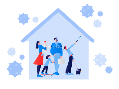 style Stay home during the coronavirus epidemic. Family staying at home in self quarantine, protection from virus images in PNG and SVG   Icons8 Illustrations