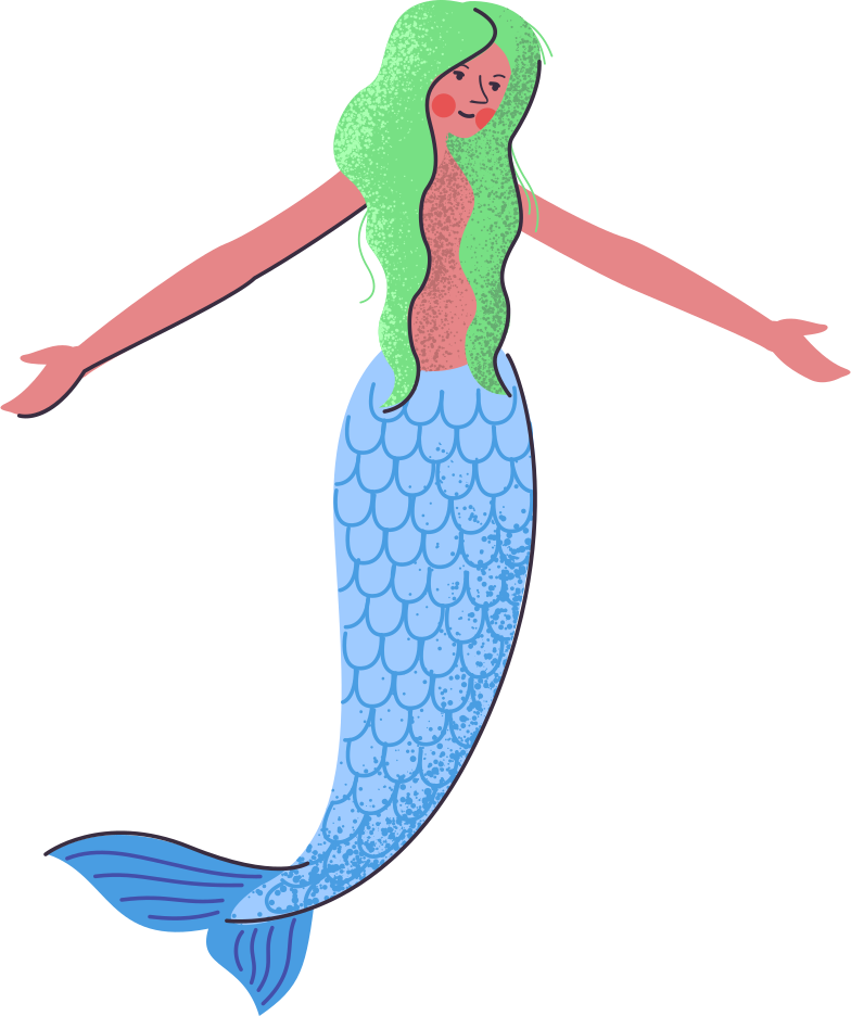 mermaid Clipart illustration in PNG, SVG
