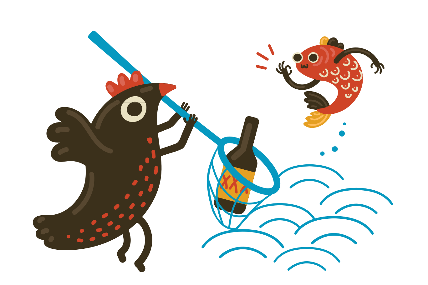 style Cleaning the sea Vector images in PNG and SVG | Icons8 Illustrations