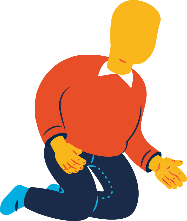 chubby man sitting Clipart illustration in PNG, SVG