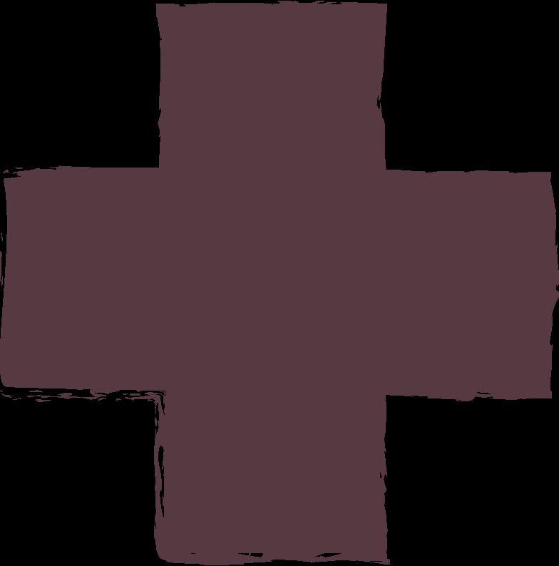 cross-dark-brown Clipart illustration in PNG, SVG