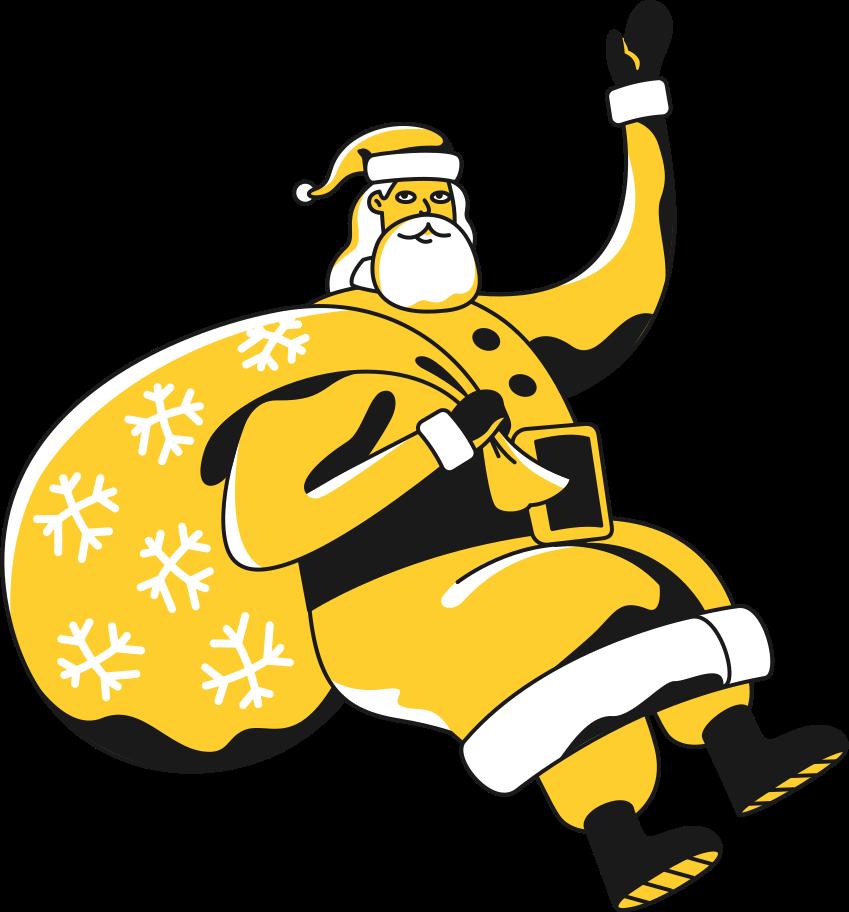 santa claus Clipart illustration in PNG, SVG