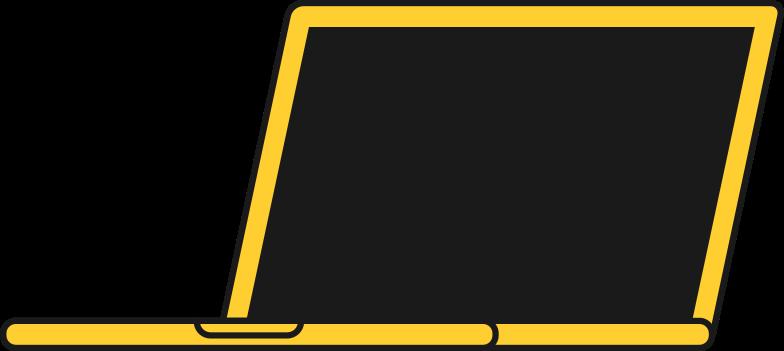 Imágenes vectoriales frente de la computadora portátil en PNG y SVG estilo    Ilustraciones Icons8