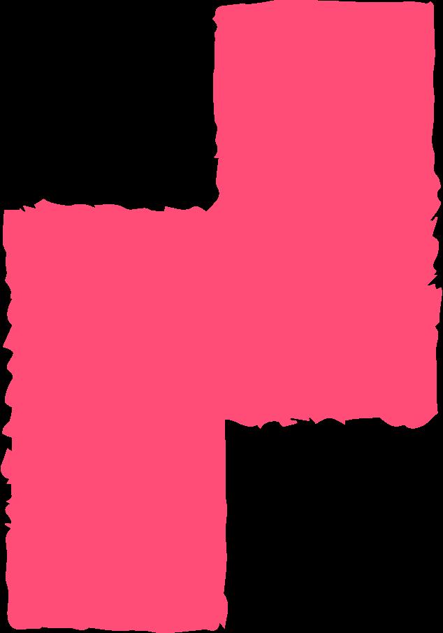 Ilustración de clipart de Bloque rosa en PNG, SVG