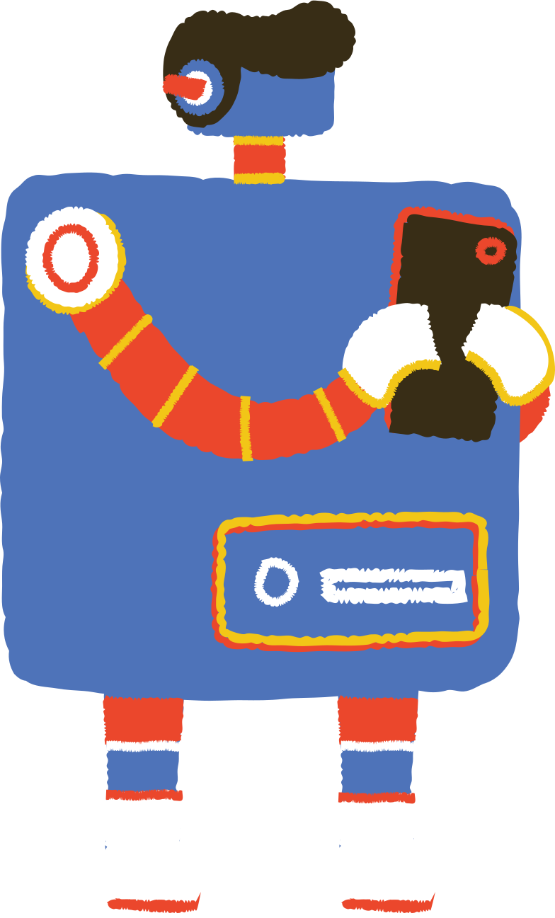 robot with phone Clipart illustration in PNG, SVG