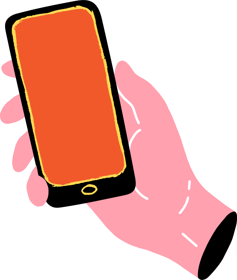 hand with cell phone Clipart illustration in PNG, SVG