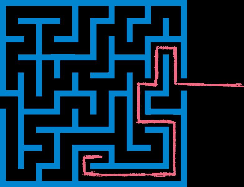red path maze Clipart-Grafik als PNG, SVG