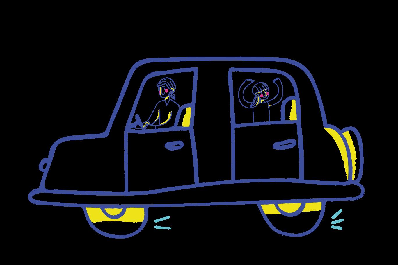 Roadtrip Clipart illustration in PNG, SVG
