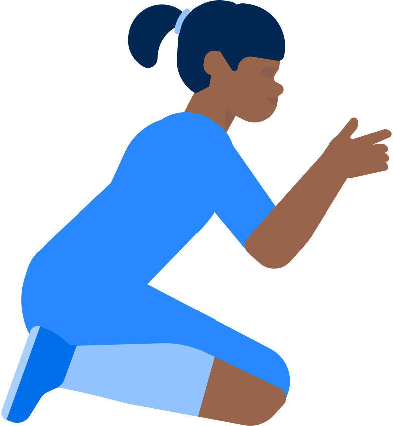 Ilustración de clipart de girl sitting and holding smth en PNG, SVG
