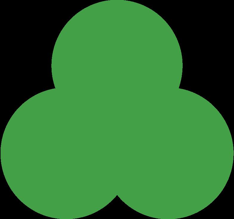 trefoil green Clipart illustration in PNG, SVG