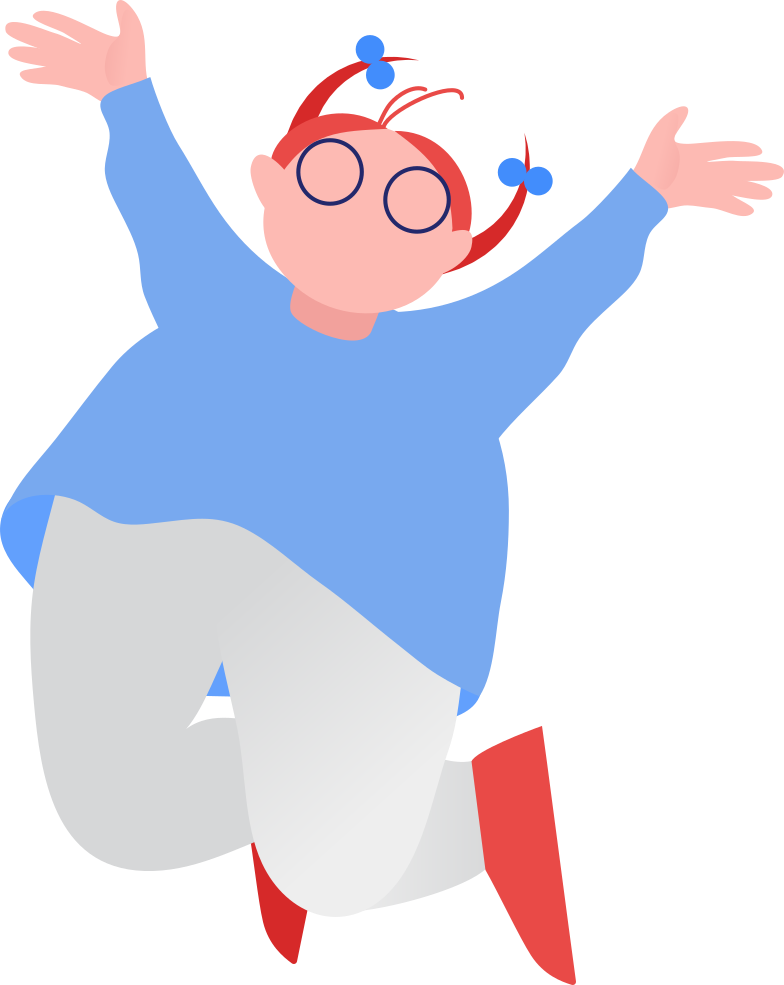 fat girl jumping Clipart illustration in PNG, SVG