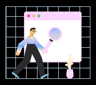 Иллюстрация Веб-поиск в стиле  в PNG и SVG   Icons8 Иллюстрации