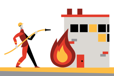 style Firefighter images in PNG and SVG | Icons8 Illustrations