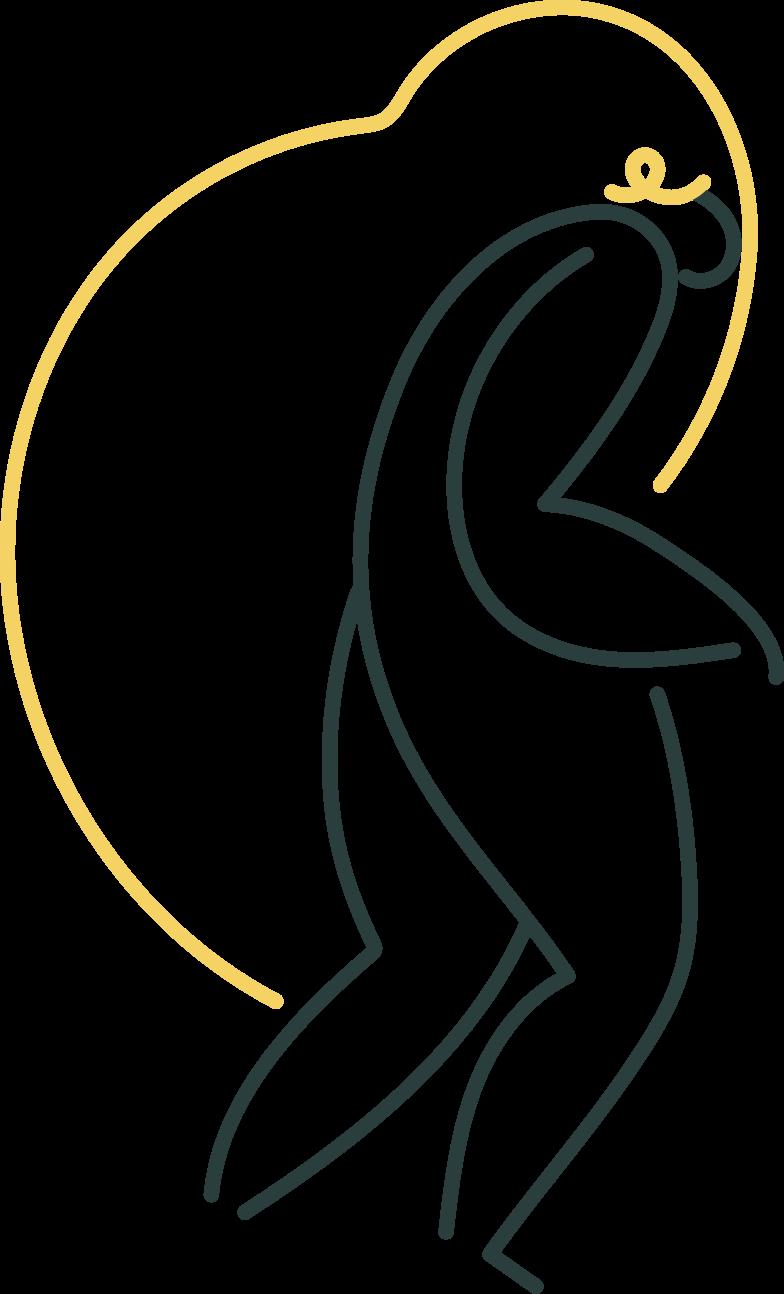 girl walking Clipart illustration in PNG, SVG