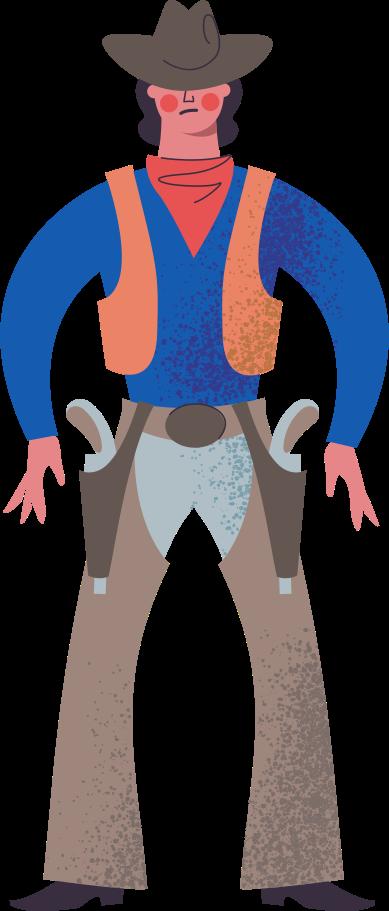 cowboy Clipart illustration in PNG, SVG
