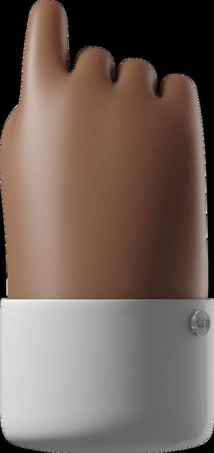 Ilustración de clipart de Índice de revés apuntando hacia arriba en PNG, SVG