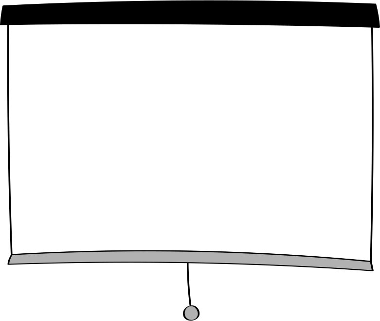 projector screen Clipart illustration in PNG, SVG