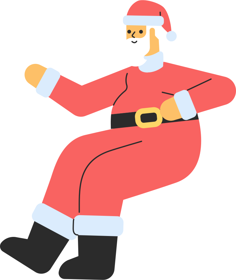 style santa sitting Vector images in PNG and SVG | Icons8 Illustrations