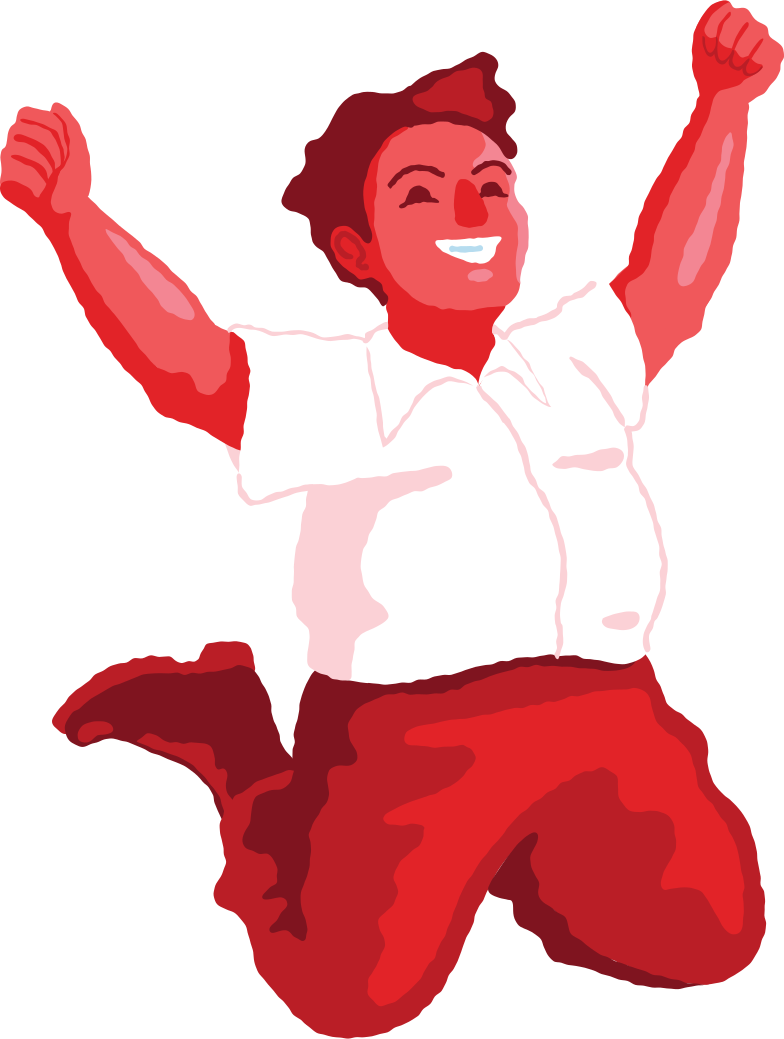 chubby boy jumping front Clipart illustration in PNG, SVG