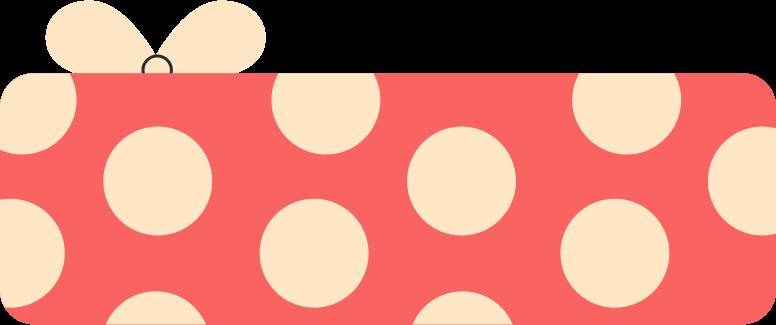present polka dot Clipart illustration in PNG, SVG