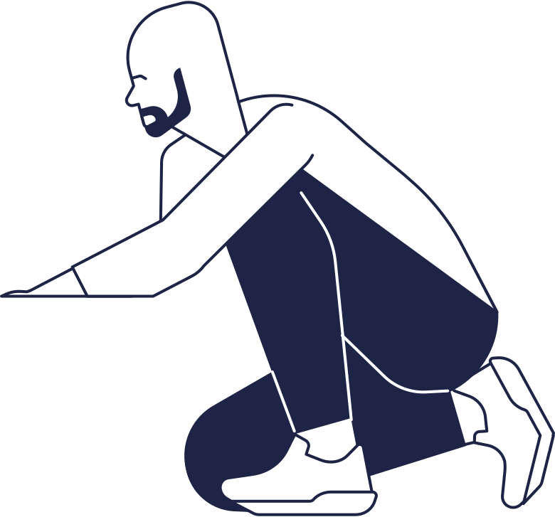 searching  man line Clipart illustration in PNG, SVG