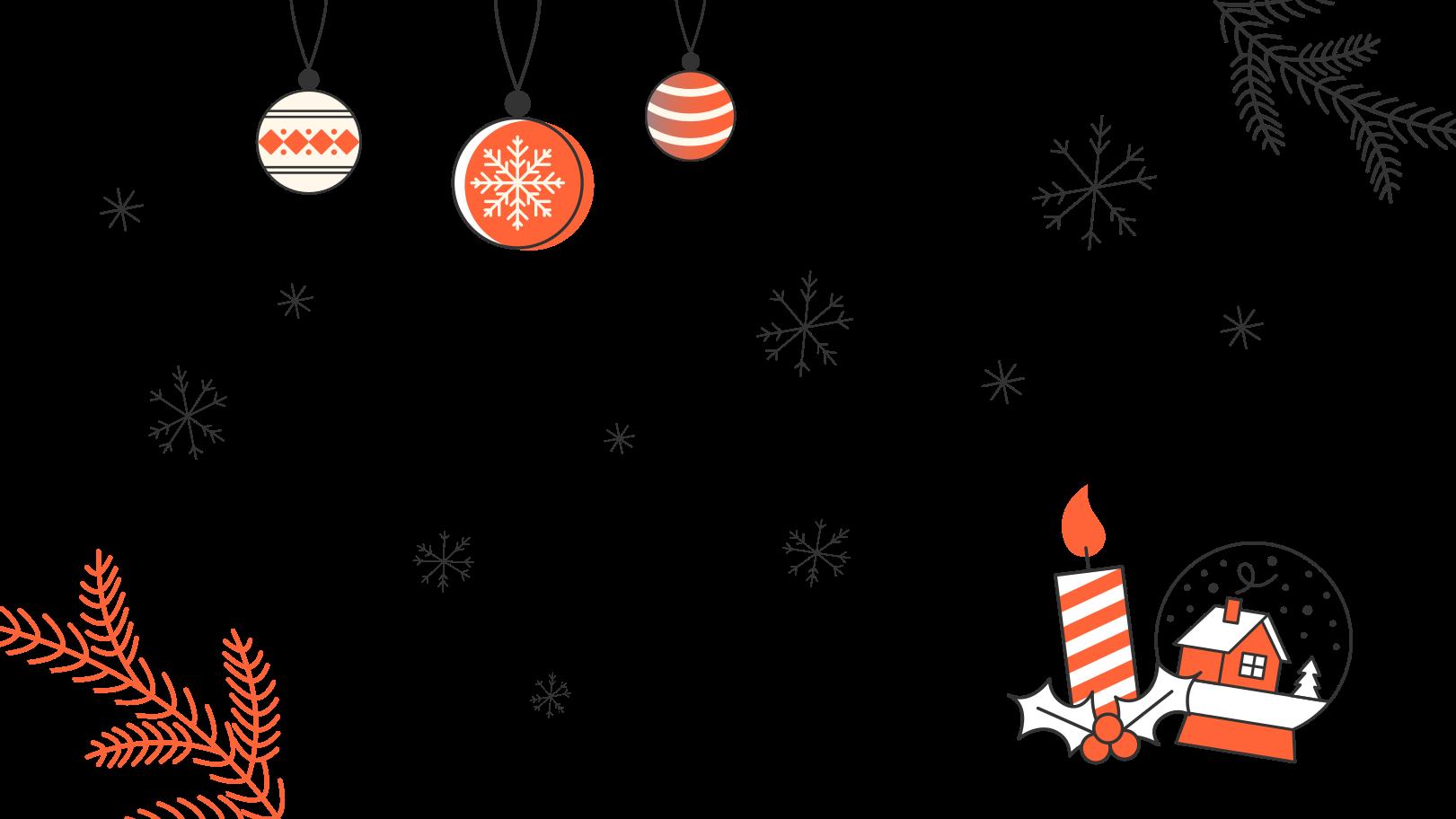 Weihnachtsatmosphäre Clipart-Grafik als PNG, SVG