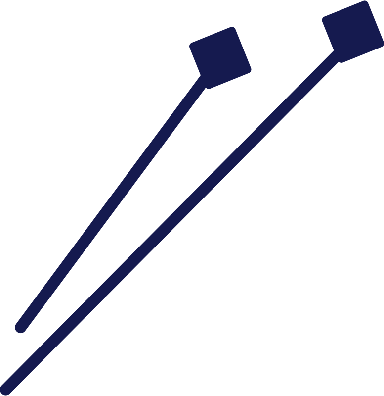 knitting needles Clipart illustration in PNG, SVG