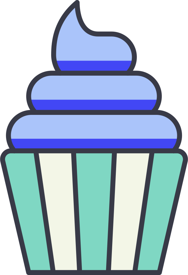 cupcake Clipart illustration in PNG, SVG