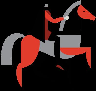 Иллюстрация всадник без головы в стиле  в PNG и SVG | Icons8 Иллюстрации