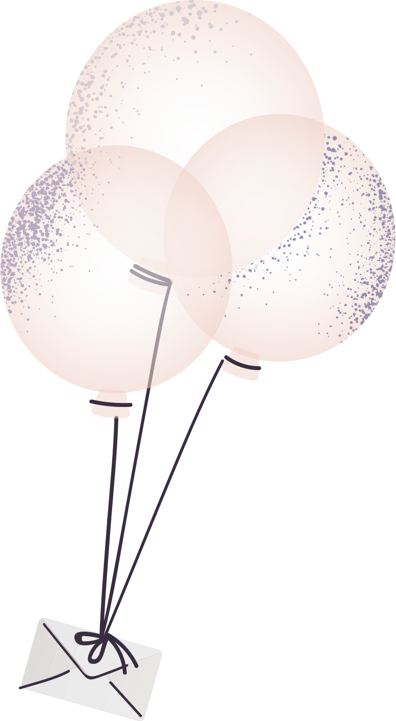 letter on balloons Clipart illustration in PNG, SVG