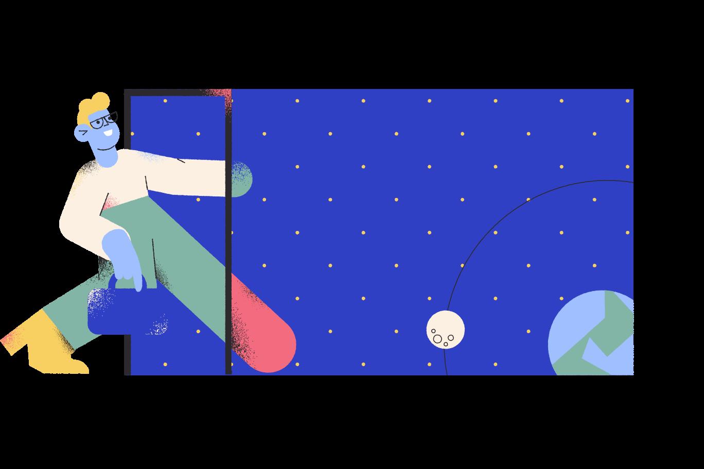 Space portal Clipart illustration in PNG, SVG